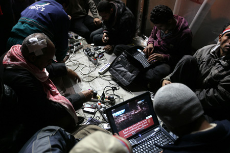 this revolution is powered by mobile phone chargers