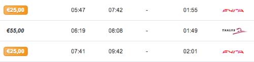 fyra timetable