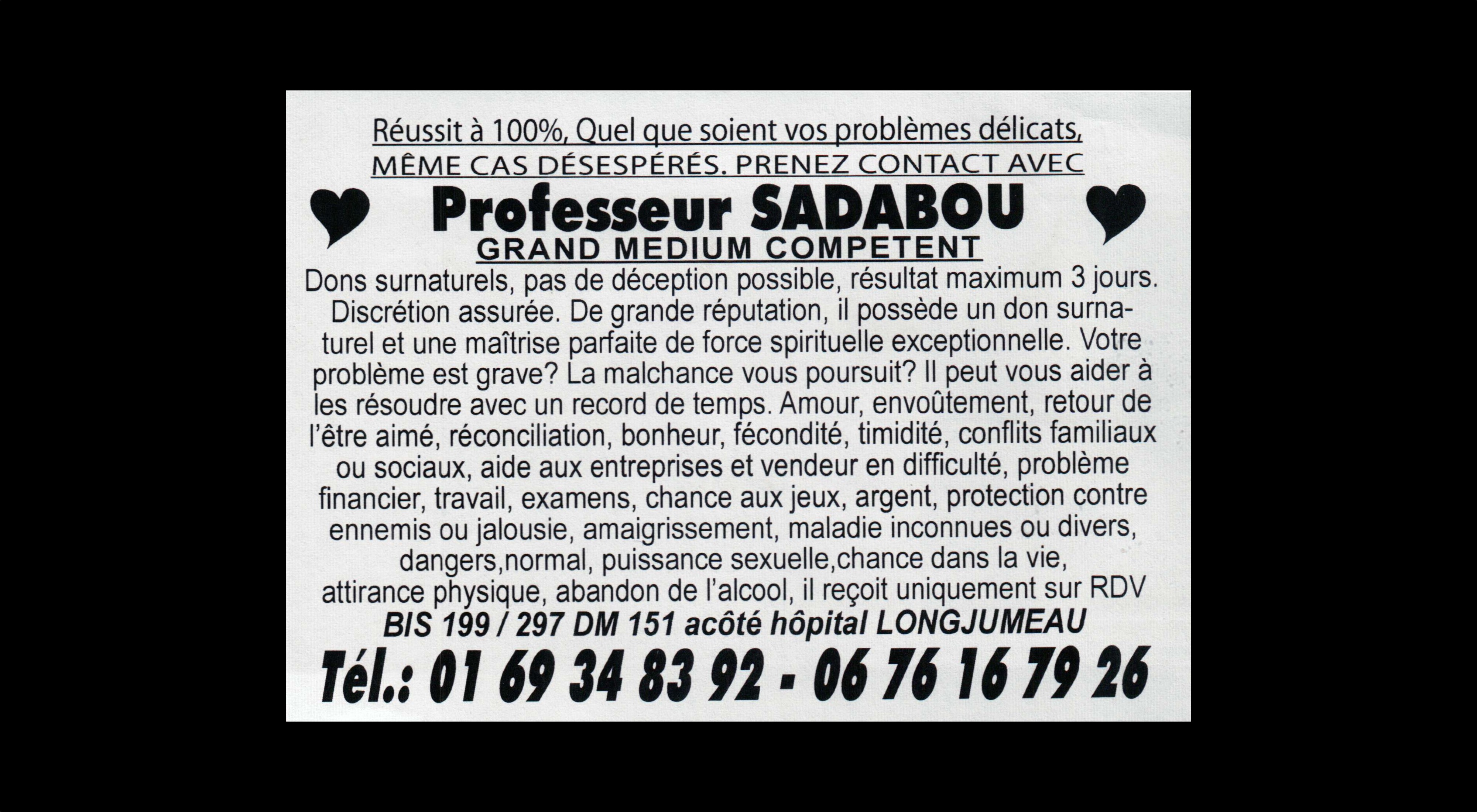 card of Prof. TAIB