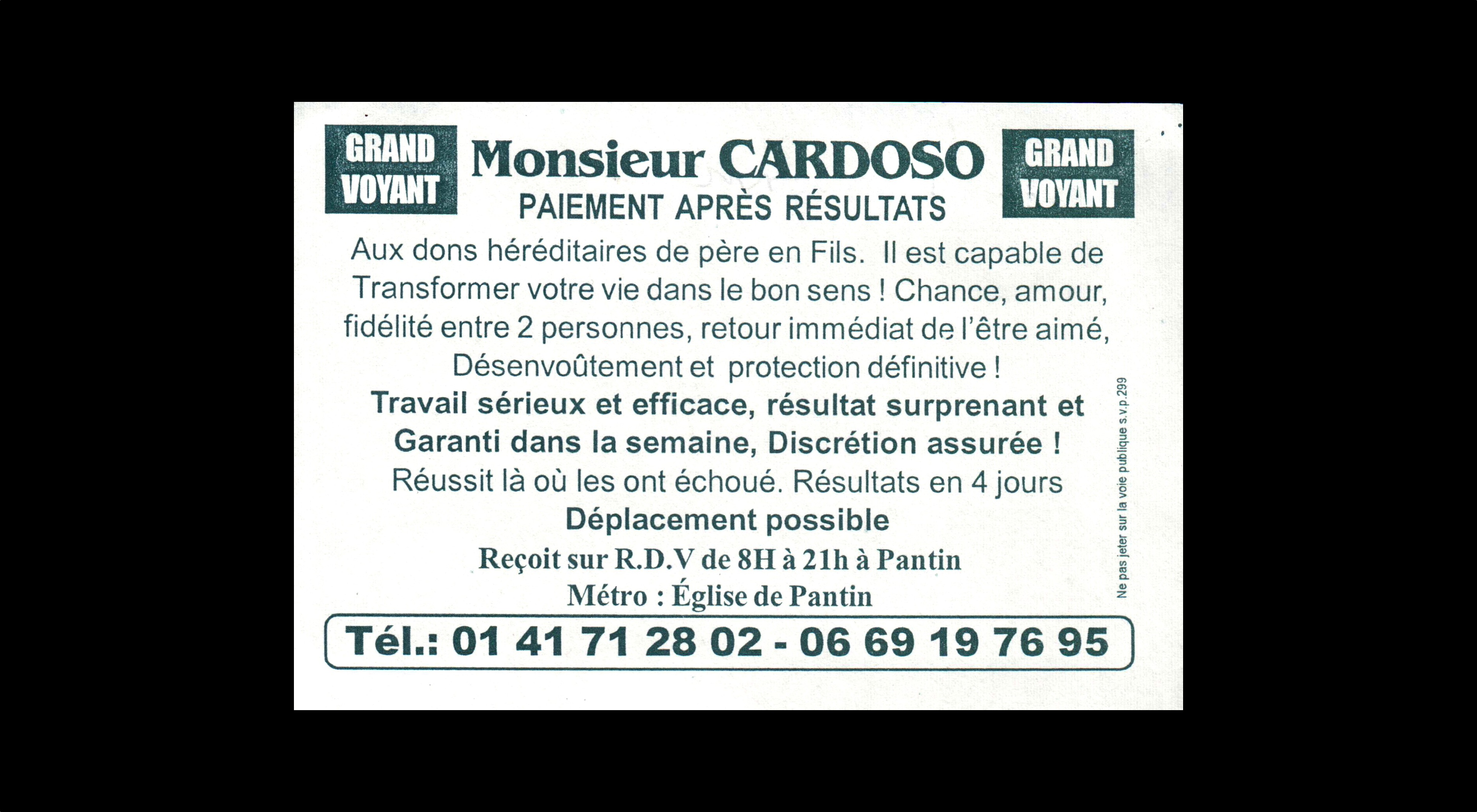 card of Professeur SADABOU