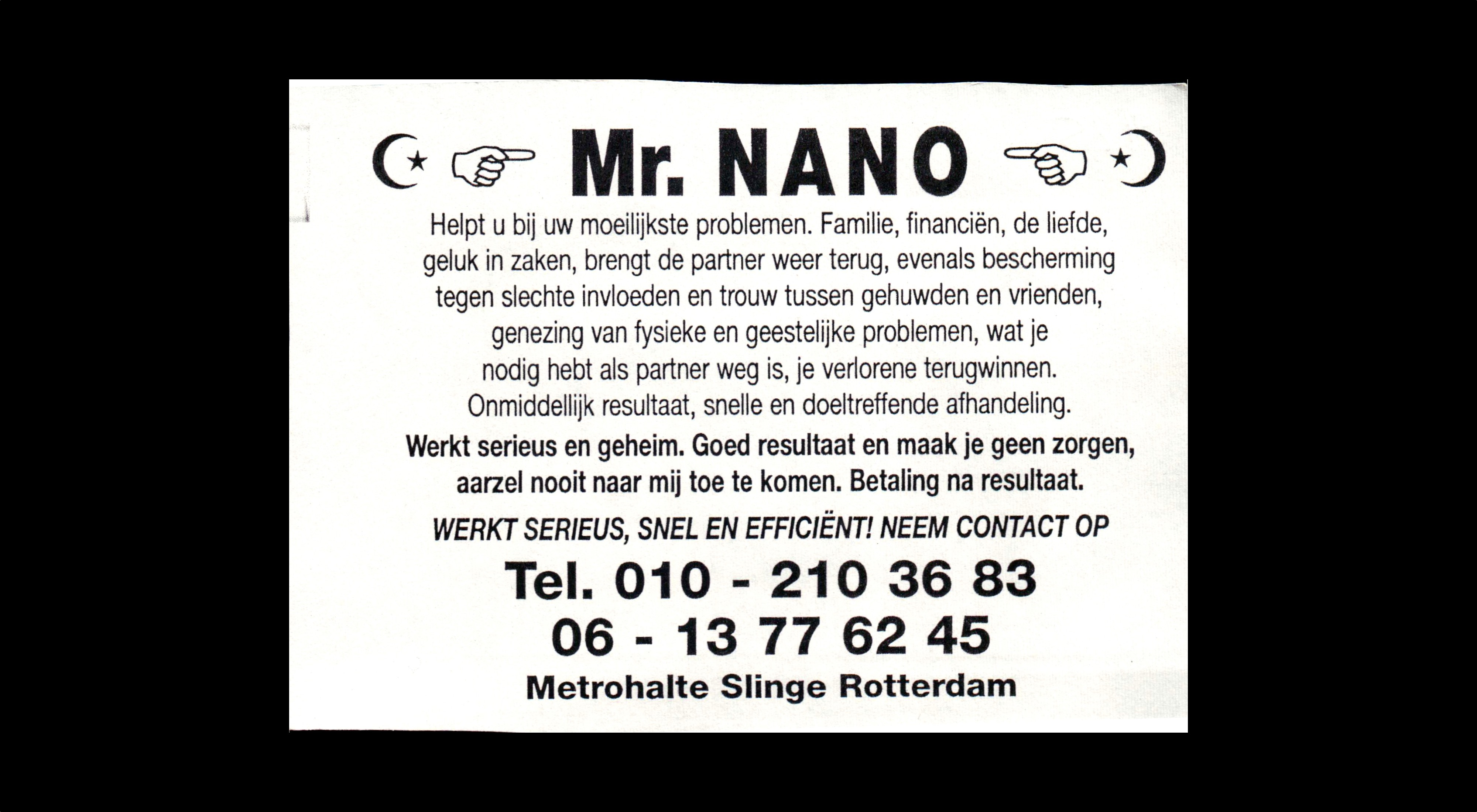 card of Mr. NANO