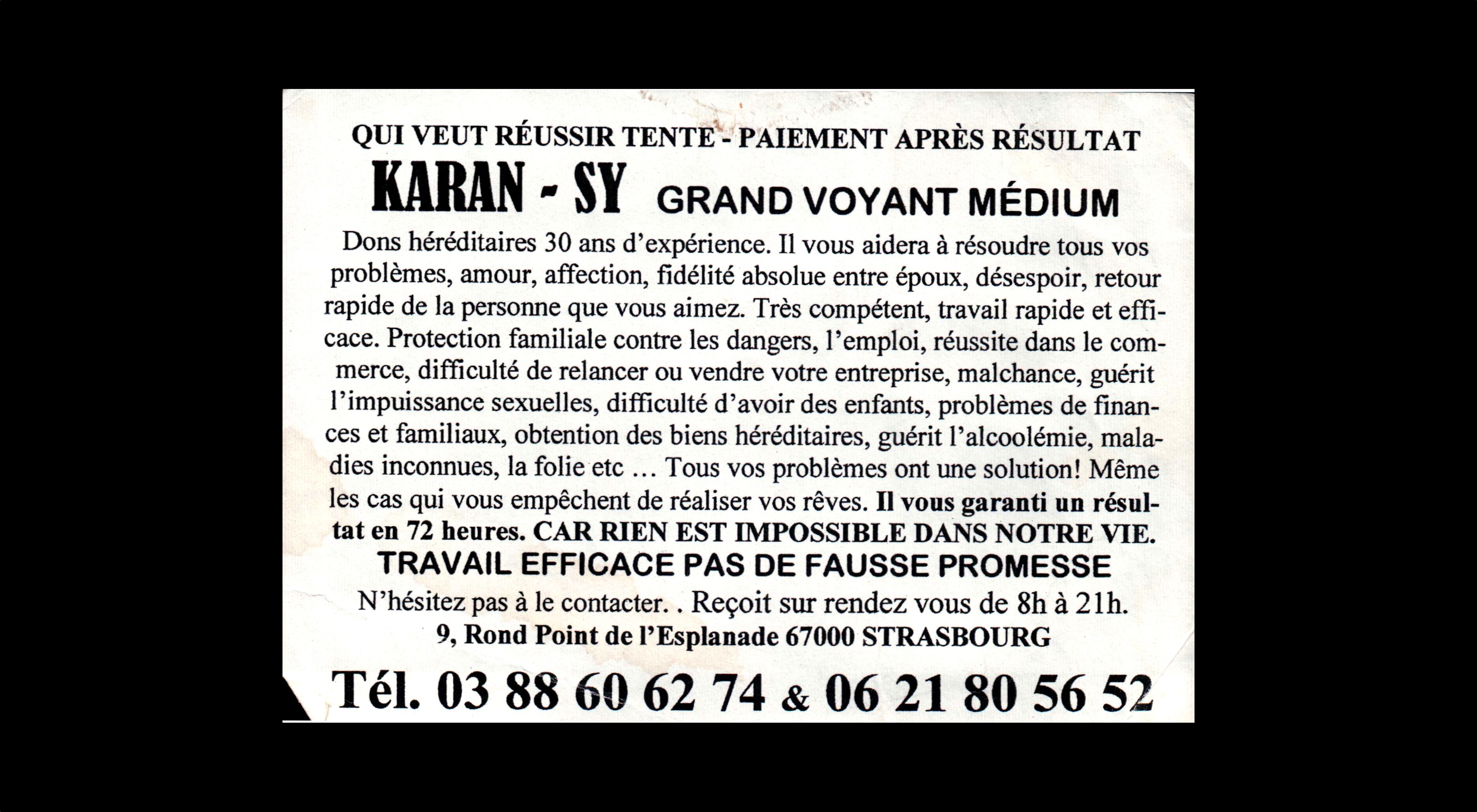 card of KARAN - SY
